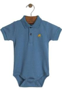 Body Up Baby Polo Masculino - Masculino-Azul