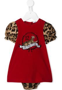 Dolce & Gabbana Kids Vestido Dg Fan Club - Vermelho