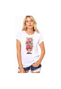 Camiseta Coolest Frida Aquarela Branco