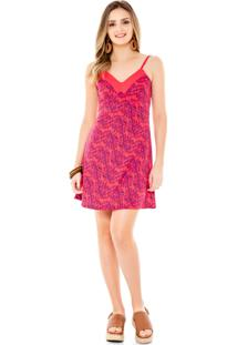 Vestido Amora Café Com Alça Pink