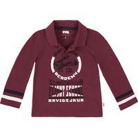abbd4fcfc9 Camisa Polo Infantil Menino Manga Longa Em Malha Piquet Puc