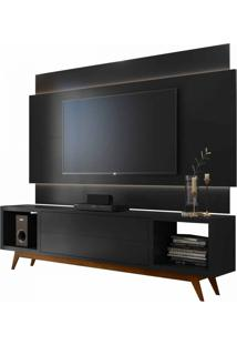 Rack Com Painel Horizon 2.2 Com Led Preto Moveisaqui