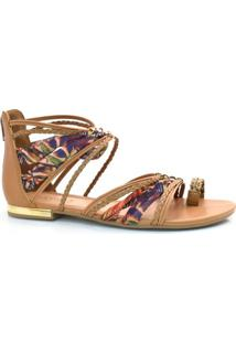 2c0dc6043 Rasteira Marrom Tanara feminina | Shoes4you