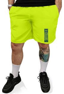 Bermuda Tactel Neon Cellos Tag Premium Verde Limã£O - Multicolorido - Masculino - Dafiti