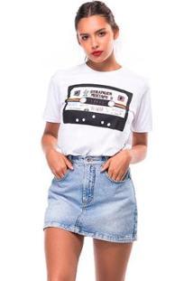Camiseta Stranger Useliverpool Feminina - Feminino-Branco