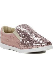 Sapato Infantil Para Menina - Rosa/Dourado - Feminino