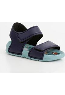Sandália Infantil Mr Velcro - Unissex-Azul