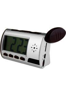 Câmera De Espionagem Camuflada Em Relógio Despertador 16Gb