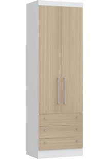 Modulo Com 2 Portas E 3 Gavetas Infinity 3821A-Castro Móveis - Branco / Nogueira