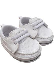 Sapato Bebê Klin Masculino - Masculino-Branco