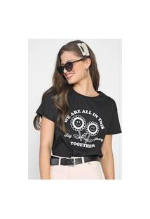Camiseta We Are All In This Together Preta