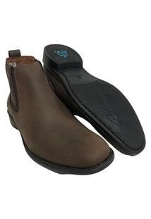 Sapato Botina Masculina Sollu Oleo Brown