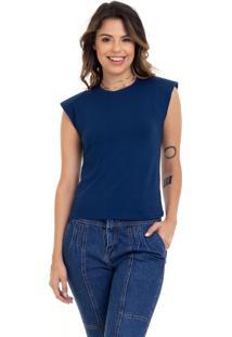 Camiseta Manola Muscle Azul Marinho.