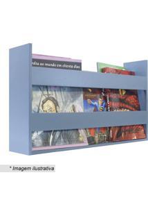 Porta Livros & Revistas- Azul Claro- 30X50X11Cm-Kapos