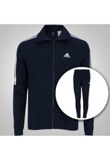 Agasalho Adidas Tiro - Masculino - Azul Esc/Branco