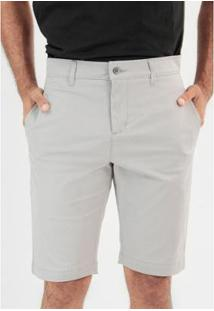 Bermuda Sarja Slim Chino Masculina - Masculino-Cinza Claro