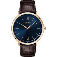 c1c8e688eda Relógio Hugo Boss Masculino Couro Marrom - 1513661