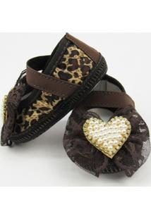 Sapato Danda Nenê Com Laço De Renda E Pérolas - Feminino