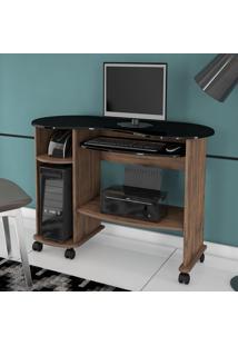 Mesa Para Computador C18 Np Nobre/Preto - Dalla Costa