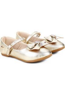 Sapato Infantil Klin Princesa Feminino - Feminino-Dourado