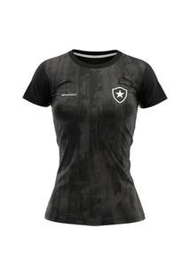 Camiseta Botafogo Braziline Fold Feminina - Preto E Chumbo