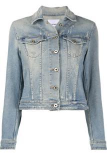 Dondup Jaqueta Jeans Destroyed - Azul