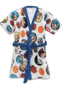 Roupão Felpudo Lepper Infantil Quimono Dragon Ball