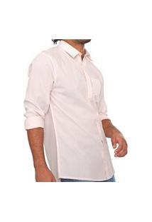 Camisa Hering Reta Listrada Rosa/Branca K47B1Bsi
