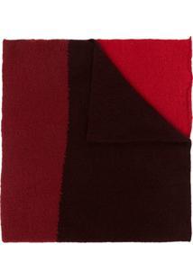Daniel Andresen Cachecol Color Block De Tricô - Vermelho