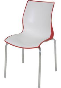 Cadeira Maja Cor Vermelho Com Branco - 21737 - Sun House