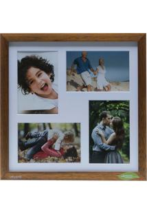 Painel Collection Para 4 Fotos 10X15 - Woodart - Marrom