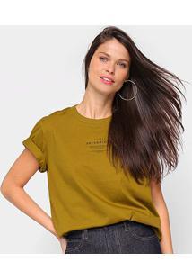 Camiseta Colcci Serendity Feminina - Feminino-Verde