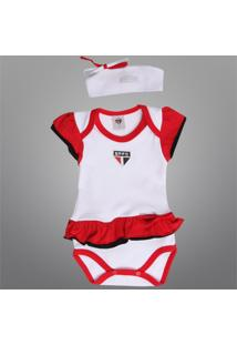Body São Paulo Vestido C/ Tiara Infantil - Feminino