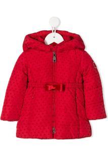 Monnalisa Heart Print Coat - Vermelho