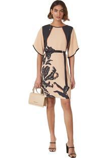 T-Shirt Morena Rosa Dress Com Silk Nude