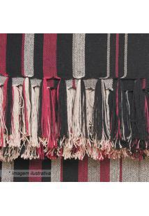 Manta Para Sofá Egípcia- Preta & Vermelha- 150X200Cmartesanal