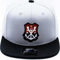 Boné Starter X Flamengo Cinza Logo Regata Aba Reta P.. c274fe0024b4c