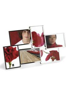 Porta-Retrato Slim Multi Fotos Cromado