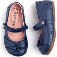 3cc6a6ad0c Sapatilhas Para Menina Azul Marinho Couro infantil