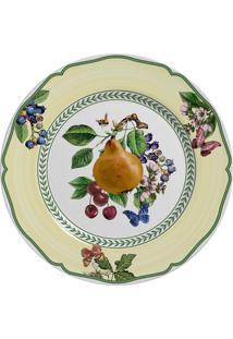 Prato De Sobremesa Fruits Alleanza Em Cerâmica - Ø 20 Cm - Colorido