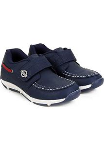 Sapato Infantil Klin Outdoor Masculino - Masculino-Marinho+Vermelho