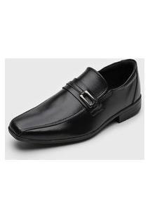 Sapato Social Colombo Aplique Preto
