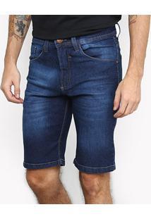 Bermuda Jeans Hd Basic Masculina - Masculino-Azul
