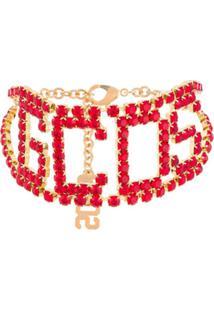 Gcds Choker Com Logo - Vermelho