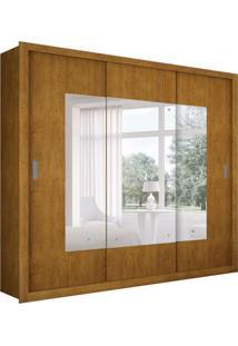 Guarda-Roupa Casal Com Espelho Veneza Top Imbuia 3 Pt 4 Gv
