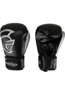 Luvas De Boxe Pretorian Elite Training - 12 Oz - Adulto - Preto/Prata