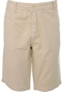 Bermuda Sarja Calvin Klein Jeans Chino Básica Bege - Kanui