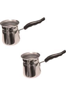 Conjunto Com 2 Cafeteiras Turcas Culinária Turca Café Chá Thata Esportes