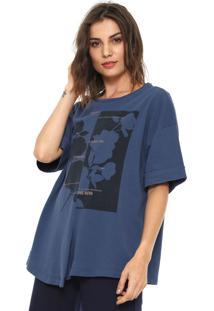 Camiseta Forum Estampada Azul-Marinho