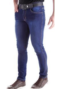 Calça Jeans Traymon Skinny Estonada Blue Black